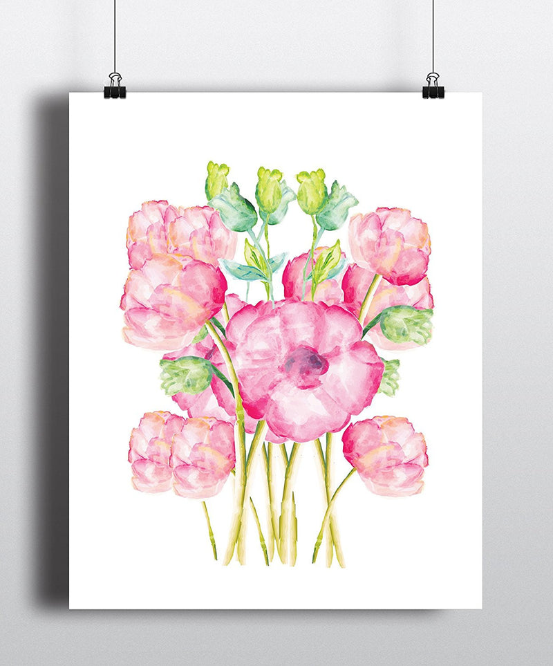 Flowers Watercolor Art Print - Unframed - Zuzi's