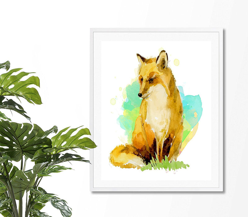 Fox Watercolor Art Print - Unframed - Zuzi's