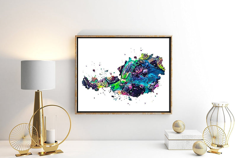 Austria Map Watercolor Art Print - Unframed - Zuzi's