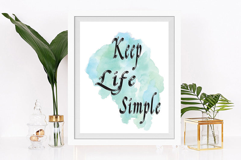 Keep Life Simple Quote Art Print - Unframed - Zuzi's