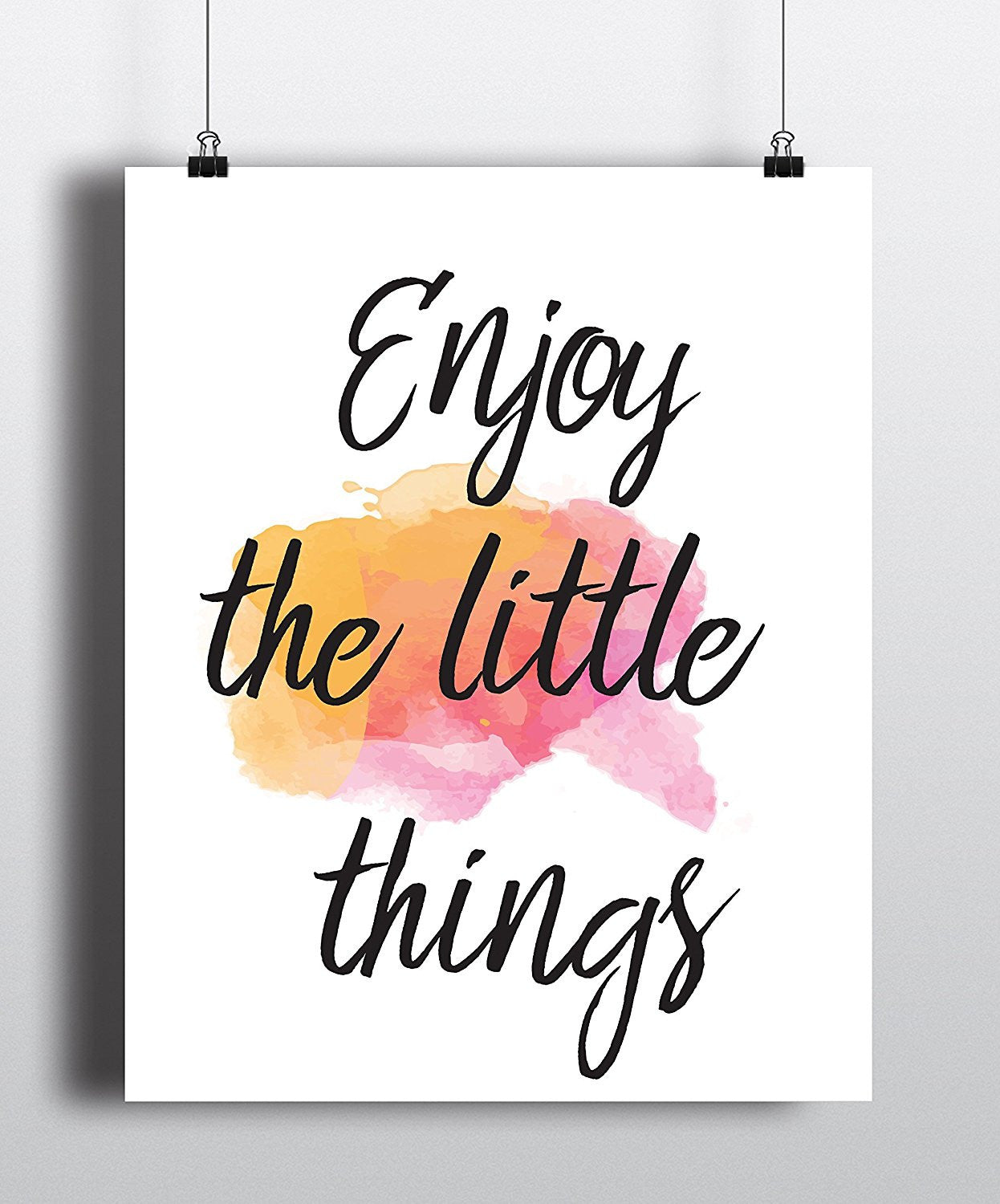 Enjoy The Little Things Quote Art Print   Unframed   Zuziu0027s ...