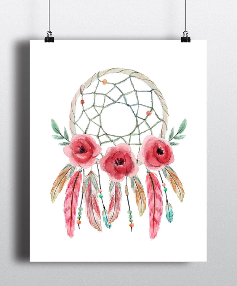 Dreamcatcher Watercolor Art Print - Unframed