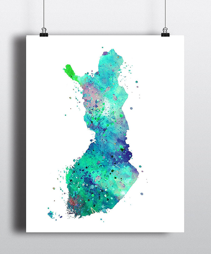 Finland Map Art Print - Unframed - Zuzi's