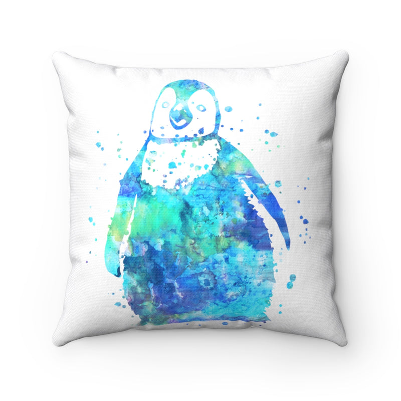 Colorful Penguin Square Pillow - Zuzi's