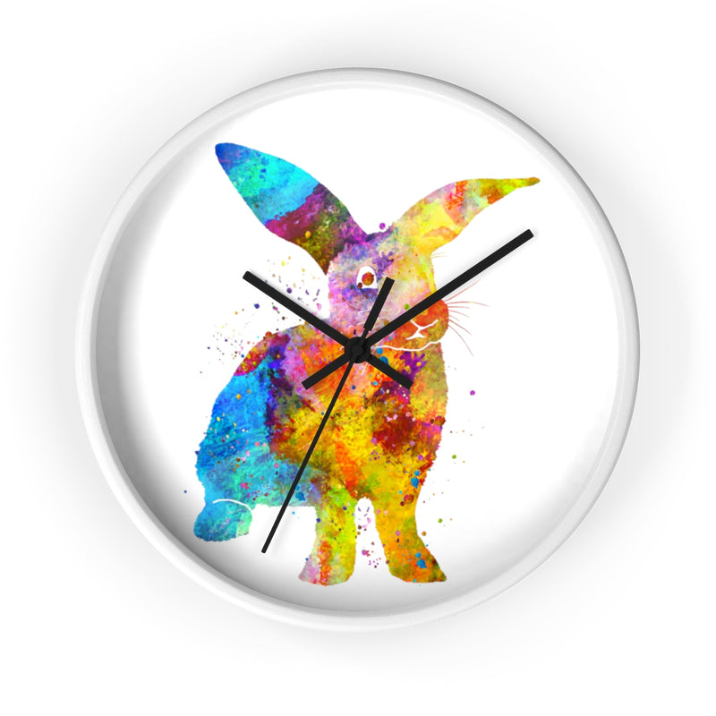 Watercolor Bunny Rabbit Wall Clock - Zuzi's