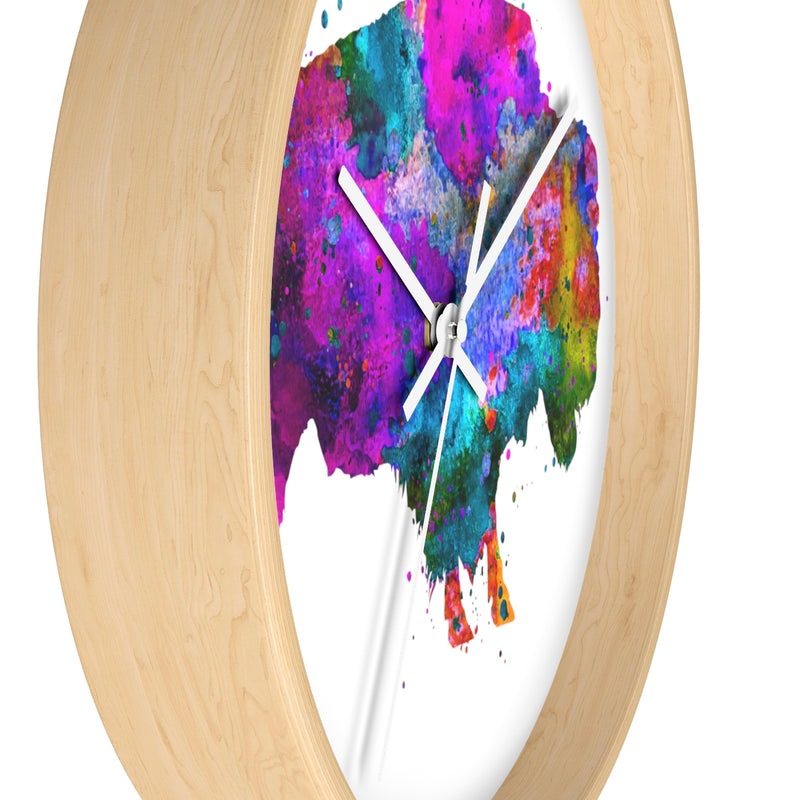 Watercolor Buffalo Wall Clock - Zuzi's