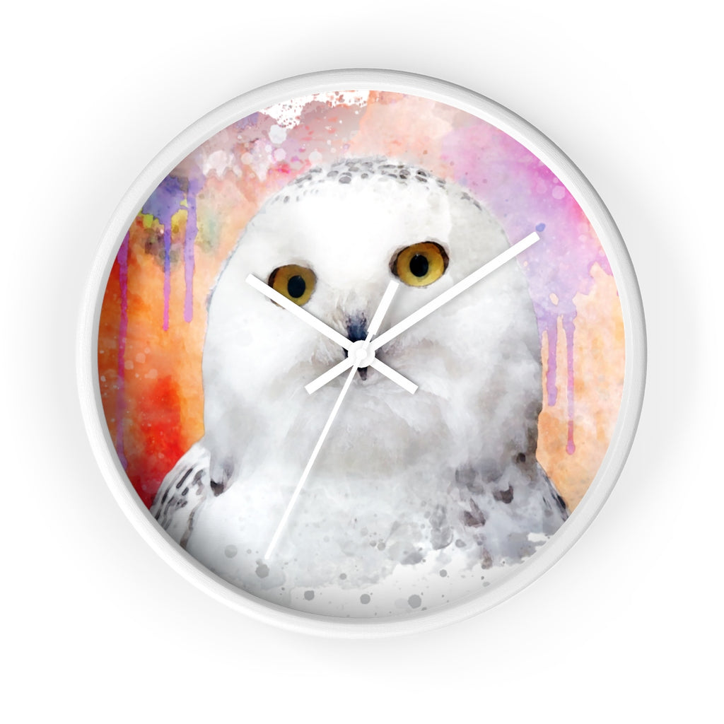 Watercolor Owl Wall Clock