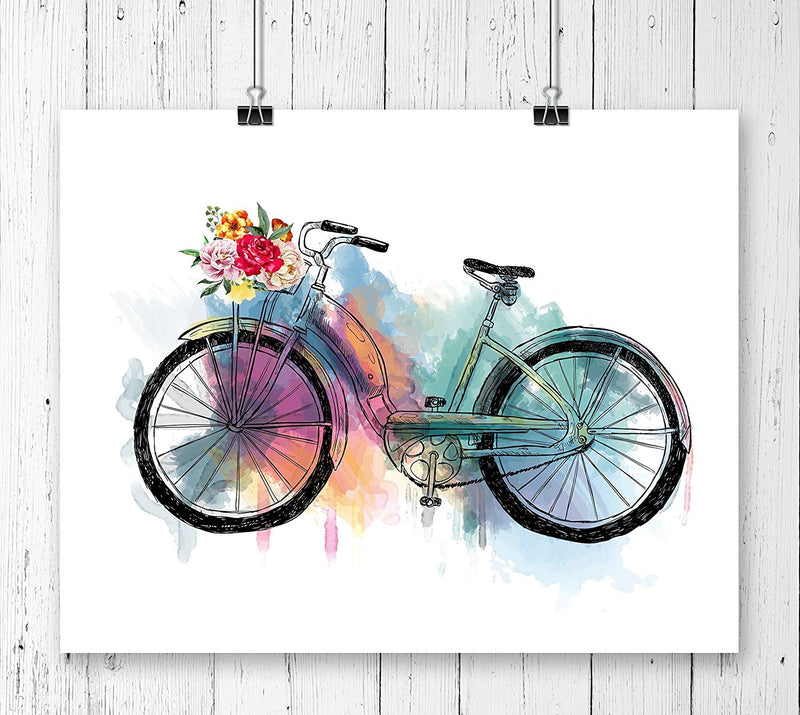 Bicycle Watercolor Art Print - Unframed