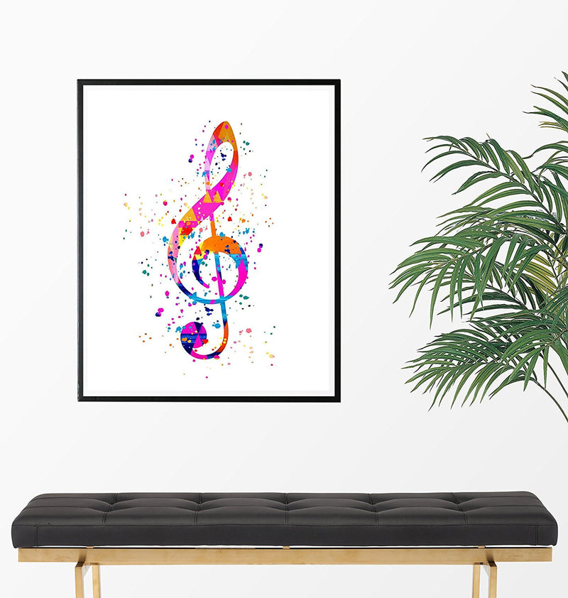 Treble Clef Art Print - -Unframed - Zuzi's