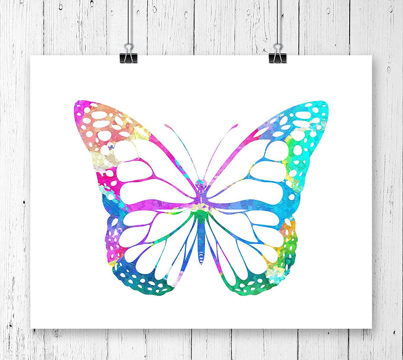 Butterfly Watercolor Art Print - Unframed - Zuzi's