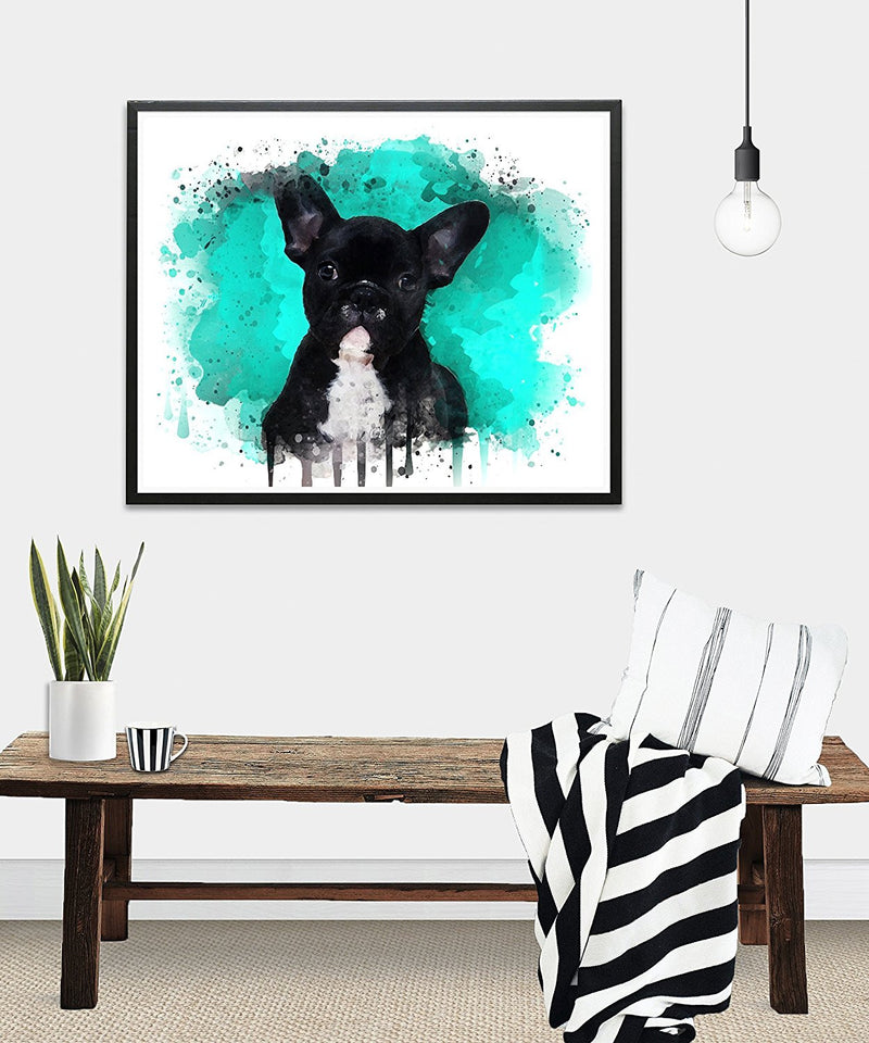 French Bulldog Watercolor Art Print - Unframed - Zuzi's