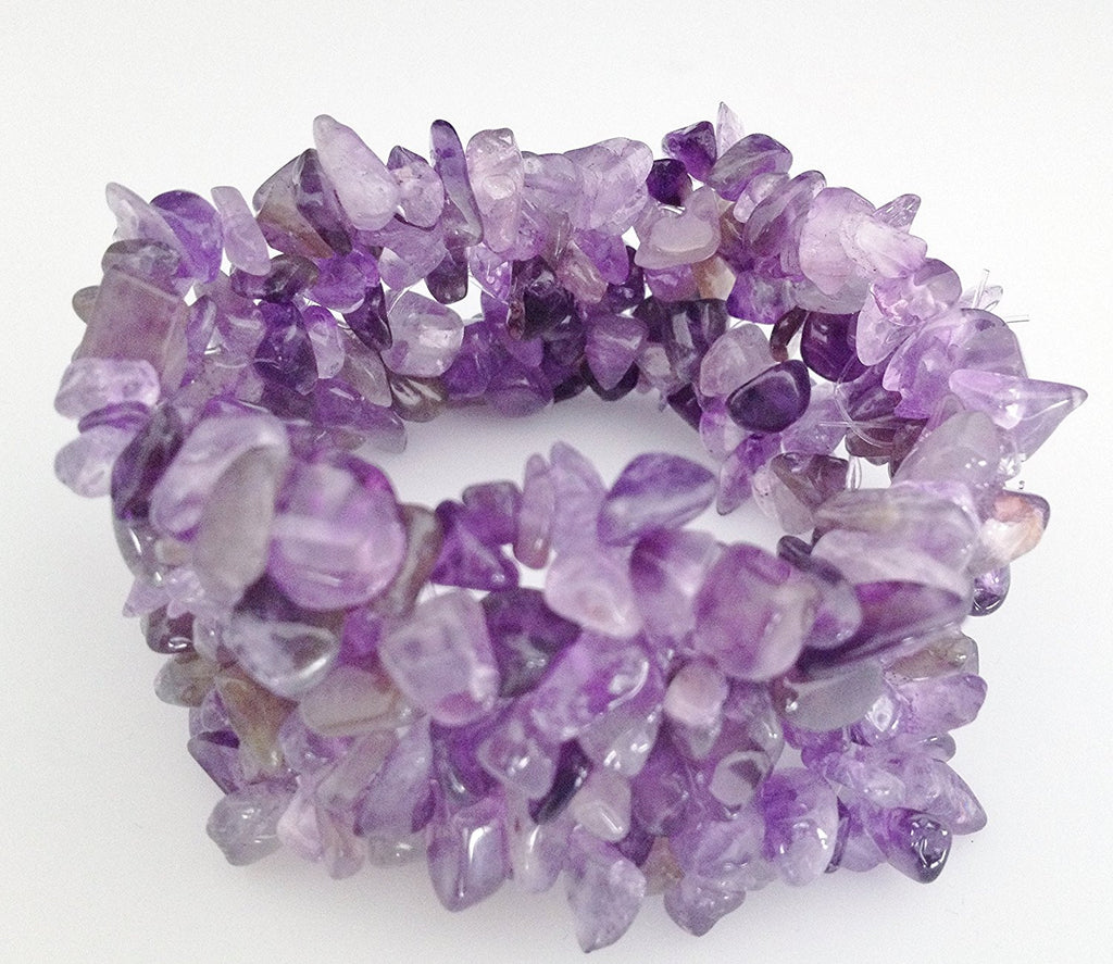 Natural Chip Amethyst Stretch Bracelet - Zuzi's