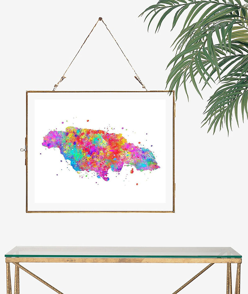 Jamaica Map Art Print - Unframed - Zuzi's