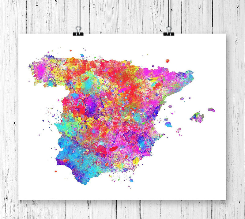 Spain Map Art Print - Unframed - Zuzi's
