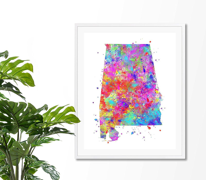 Alabama Map Art Print - Unframed - Zuzi's