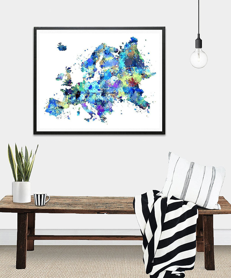 Europe Map Art Print - Unframed - Zuzi's