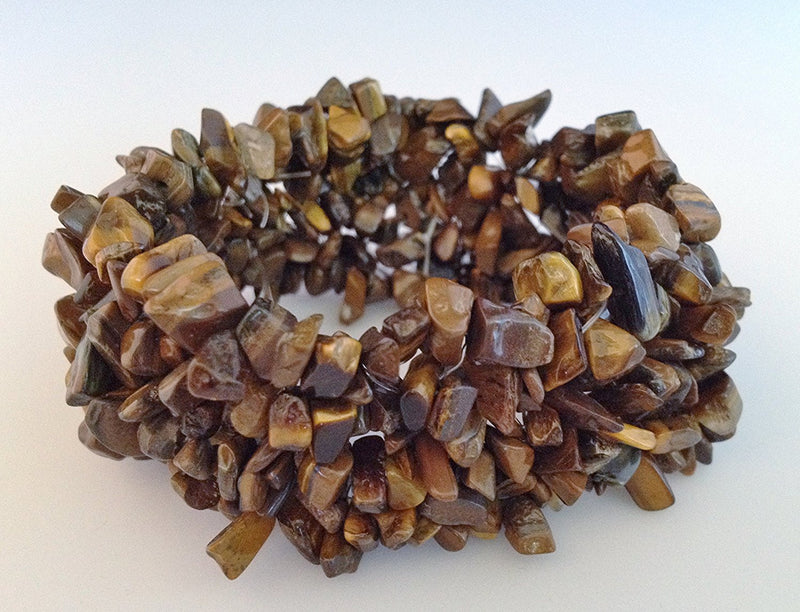 Natural Chip Tiger's Eye Stretch Bracelet - Zuzi's