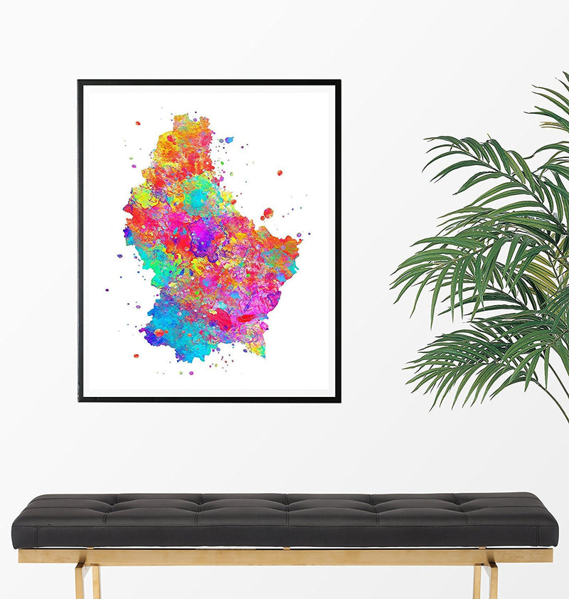 Luxembourg Map Art Print - Unframed - Zuzi's