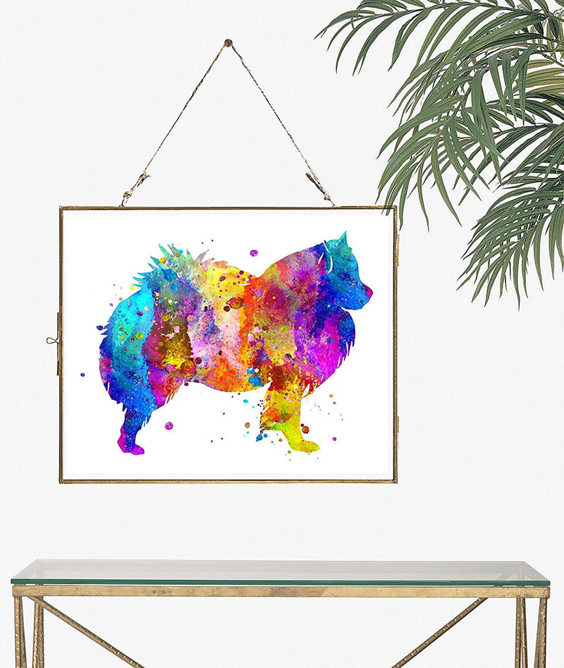 American Eskimo Dog Watercolor Art Print - Unframed - Zuzi's
