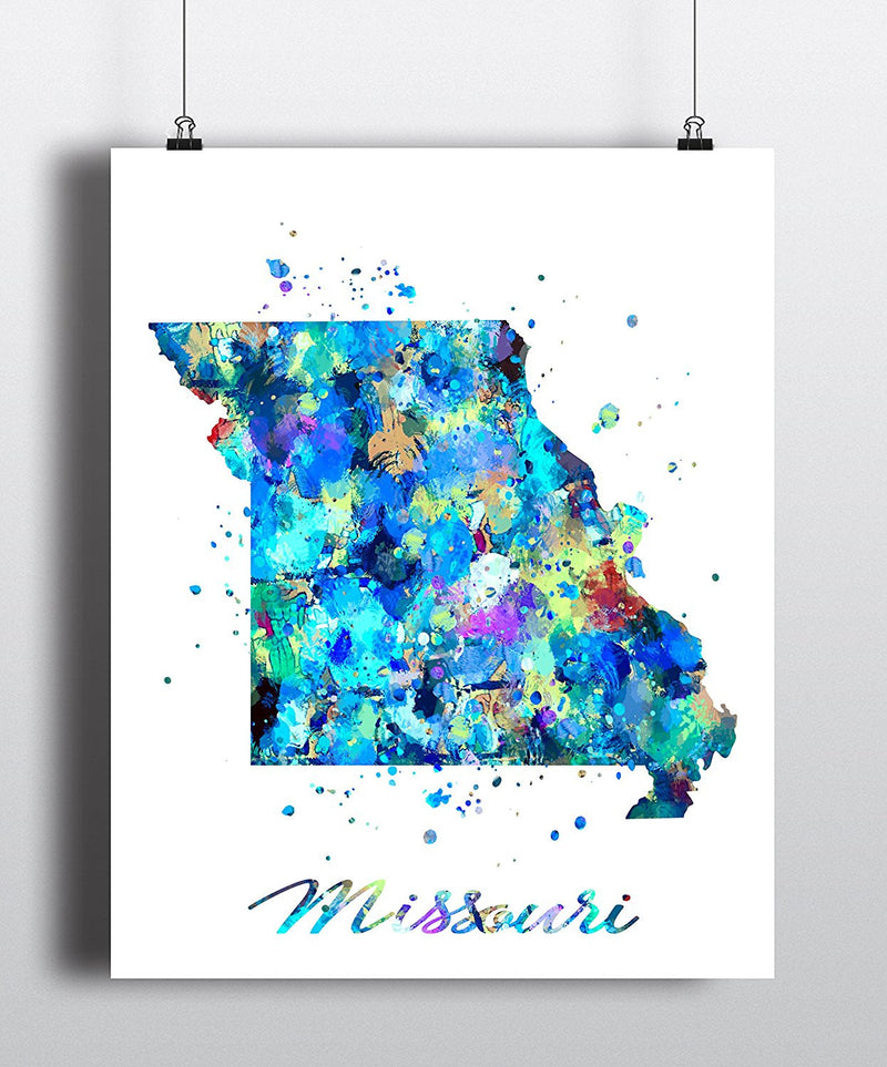 Missouri Map Art Print - Unframed - Zuzi's