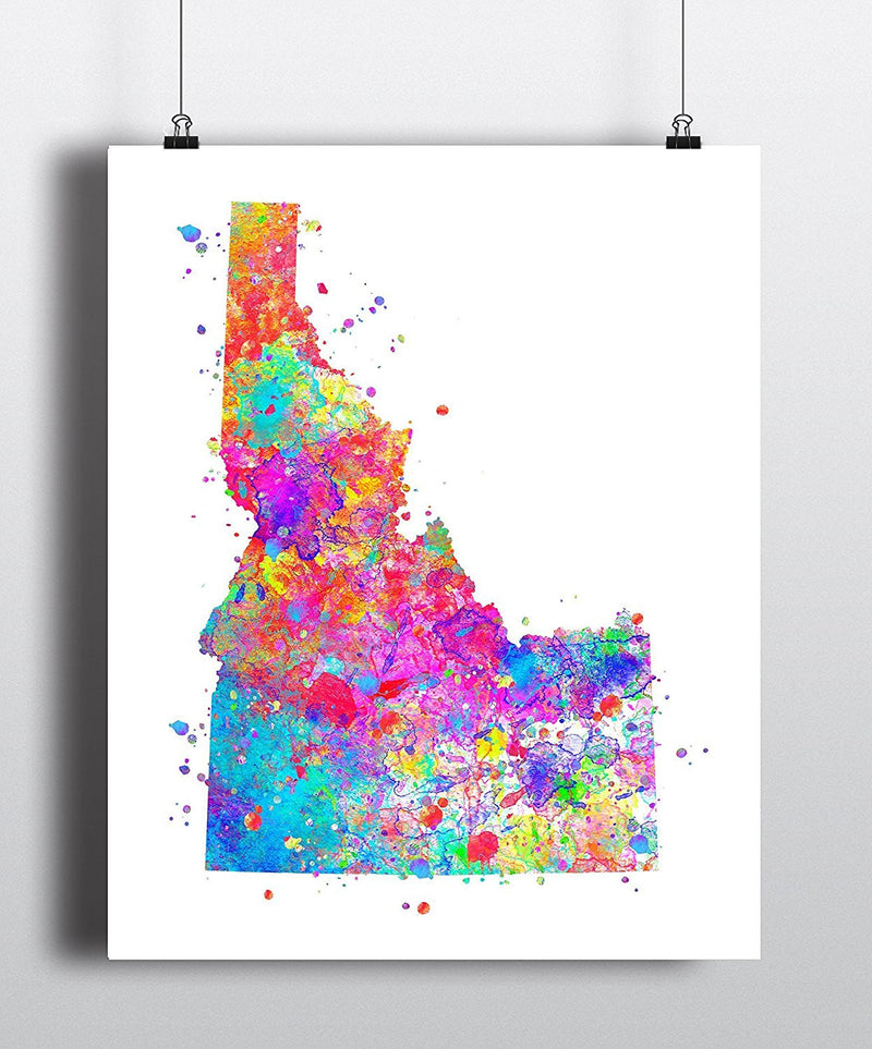 Idaho Map Art Print - Unframed