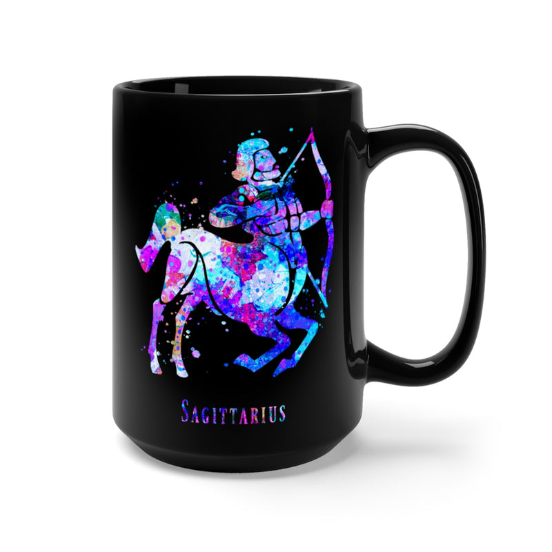 Sagittarius Zodiac Sign Black Mug 15oz - Zuzi's