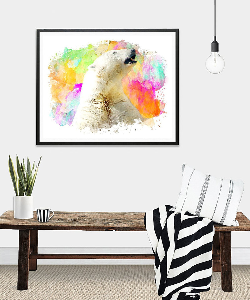 Polar Bear Watercolor Art Print - Unframed - Zuzi's