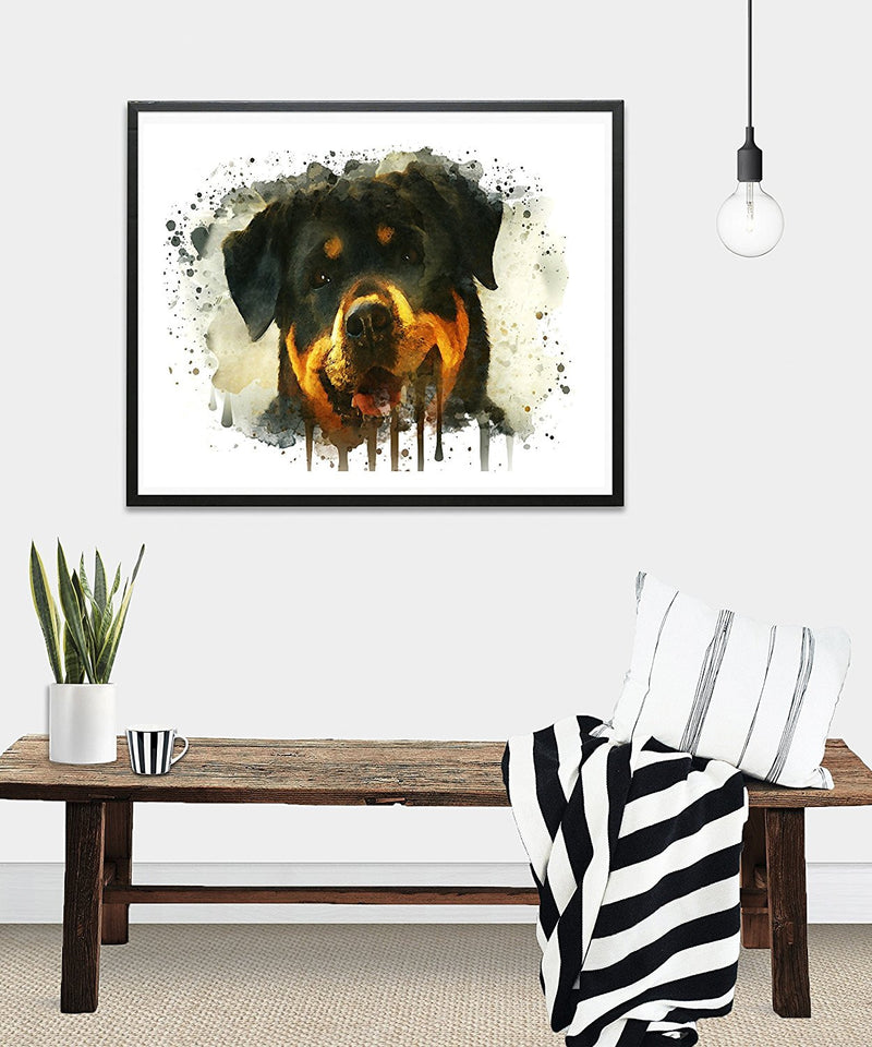 Rottweiler Watercolor Art Print - Unframed - Zuzi's