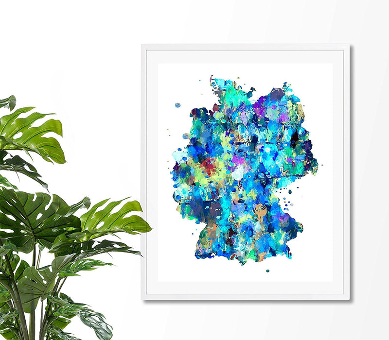 Germany Map Art Print - Unframed - Zuzi's