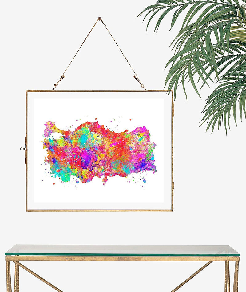 Turkey Map Art Print - Unframed - Zuzi's