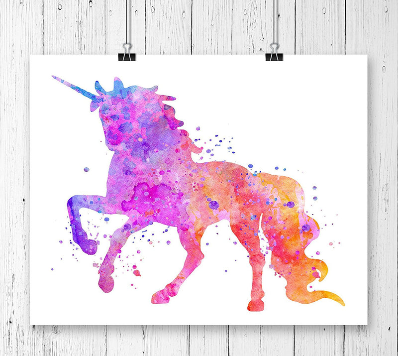 Watercolor Unicorn Art Print - Unframed - Zuzi's