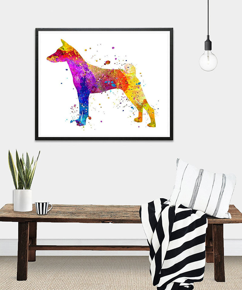 Basenji Watercolor Art Print - Unframed - Zuzi's