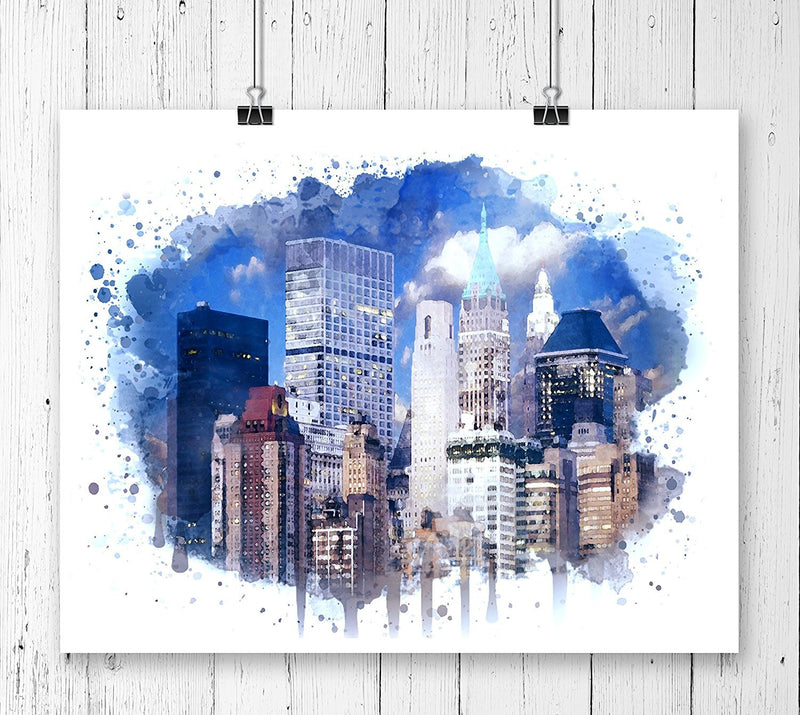 New York Watercolor Art Print - Unframed - Zuzi's
