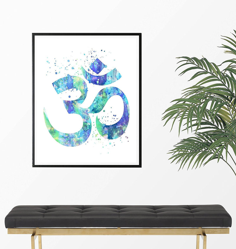 Om Symbol Watercolor Art Print - Unframed