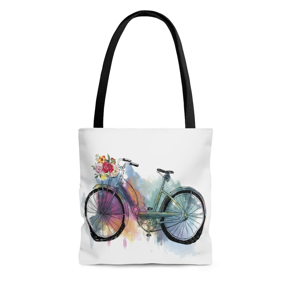 Watercolor Bicycle Tote Bag
