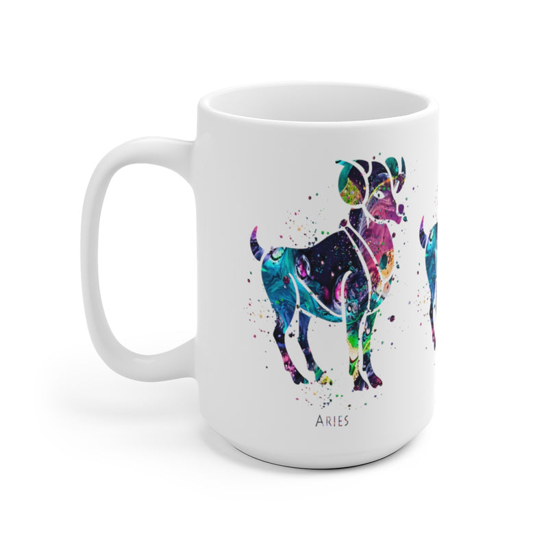 Aries Zodiac Sign Mug - 11 oz, 15 oz - Zuzi's