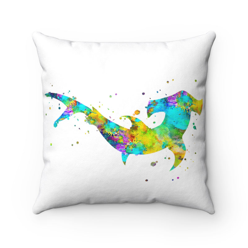 Colorful Hammerhead Shark  Square Pillow - Zuzi's