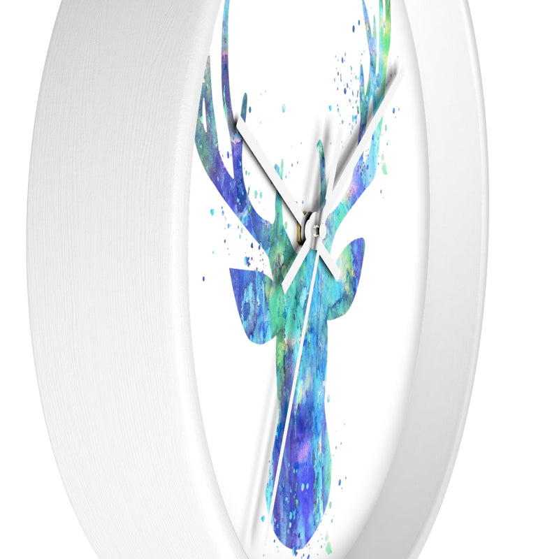 Watercolor Stag Head Wall Clock - Zuzi's
