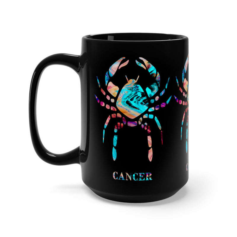 Cancer Zodiac Sign Black Mug 15oz - Zuzi's