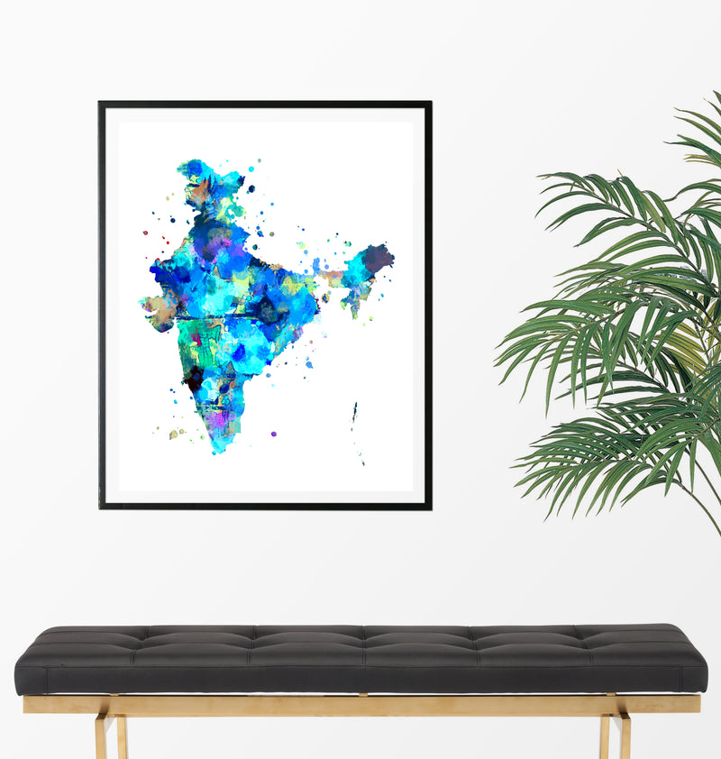 India Map Art Print - Unframed - Zuzi's