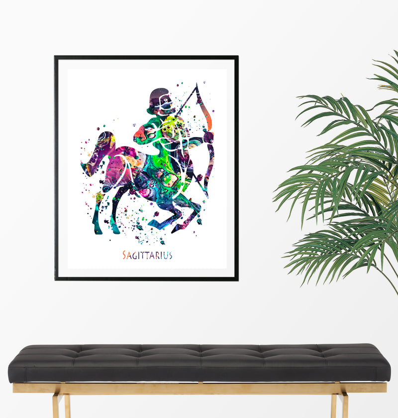 Sagittarius Astrology Art Print - Unframed - Zuzi's