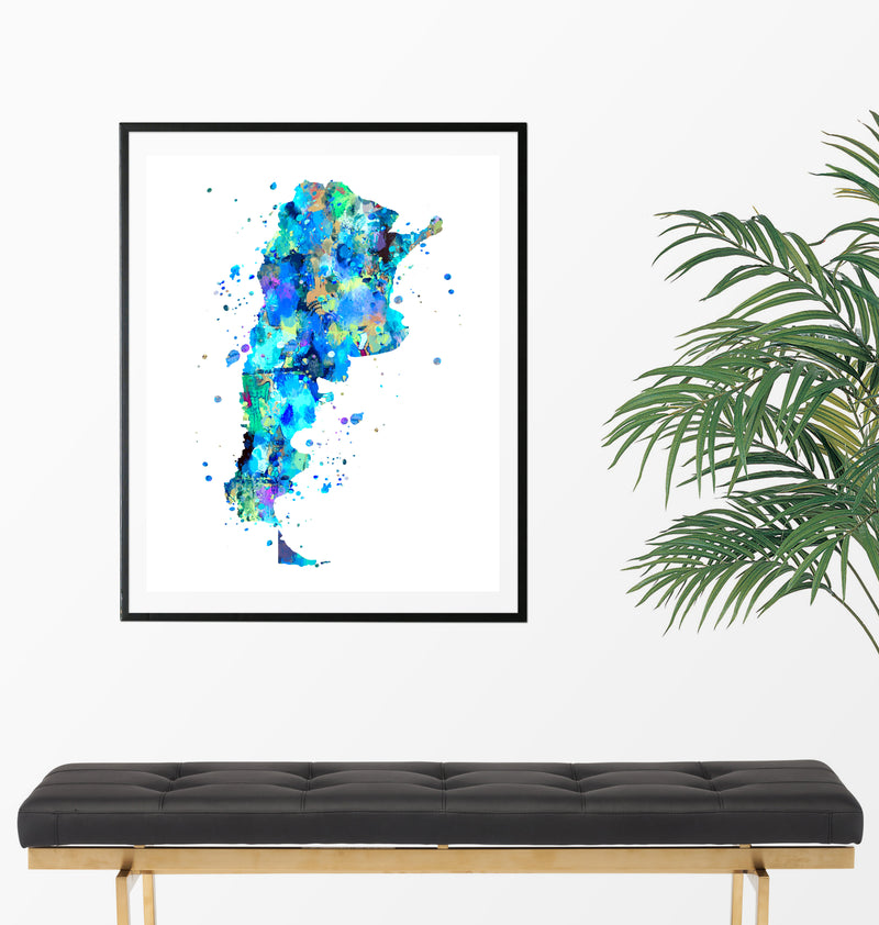 Argentina Map Art Print - Unframed - Zuzi's