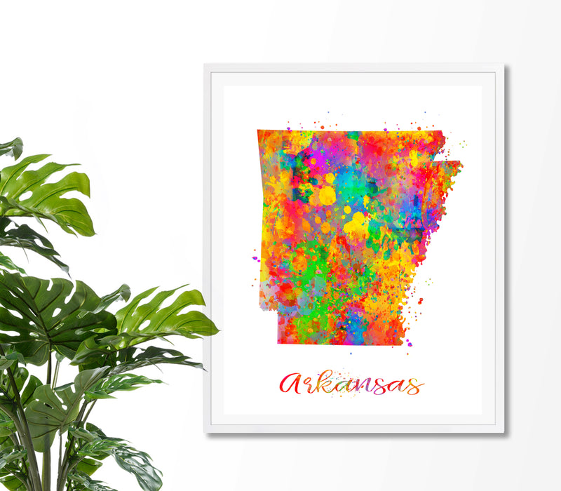 Arkansas Map Art Print - Unframed - Zuzi's