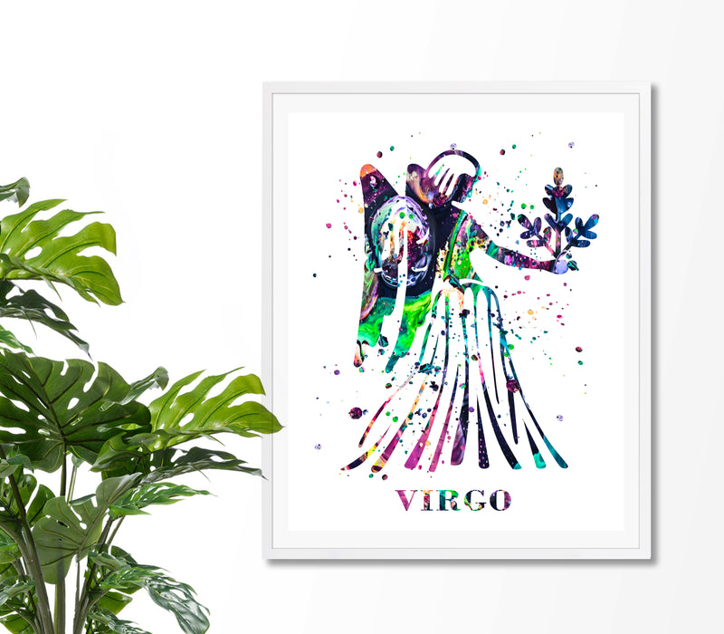 Virgo Astrology Art Print - Unframed - Zuzi's