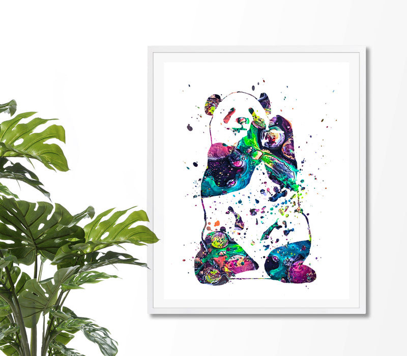 Panda Watercolor Art Print - Unframed - Zuzi's