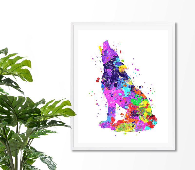 Wolf Watercolor Art Print - Unframed - Zuzi's