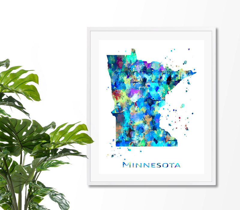Minnesota Map Art Print - Unframed - Zuzi's