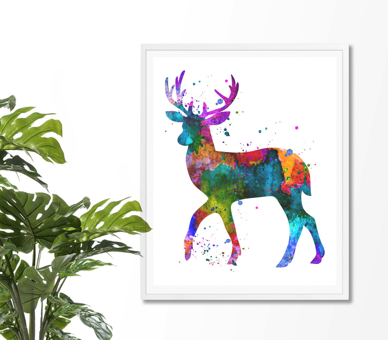 Deer Watercolor Art Print - Unframed - Zuzi's