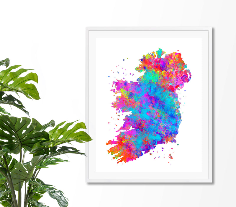 Ireland Map Art Print - Unframed - Zuzi's