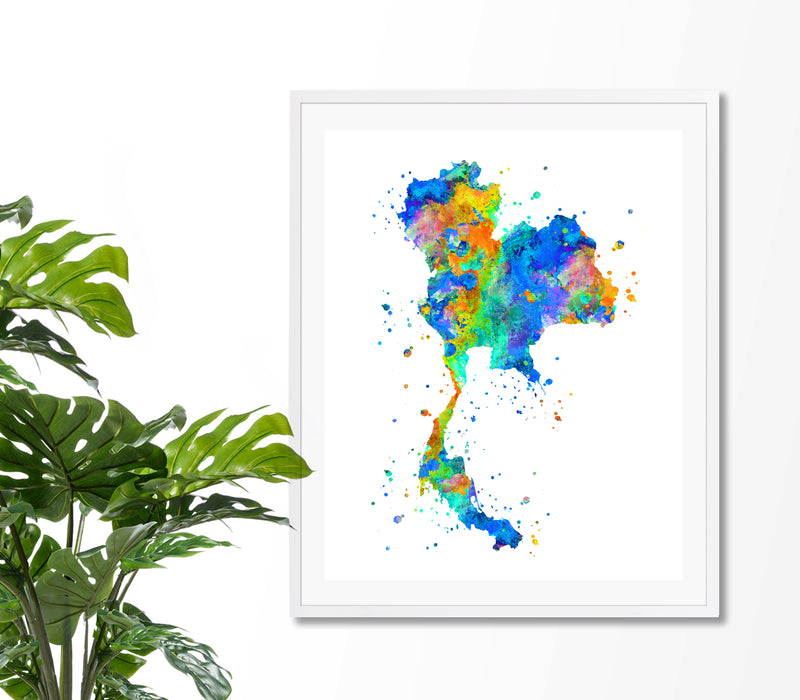 Thailand Map Art Print - Unframed - Zuzi's